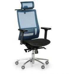Krzesło biurowe atol, niebieskie marki B2b partner