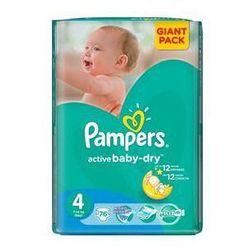 Pieluszki Pampers Active Baby-dry rozmiar 4Maxi, 76 szt. - produkt z kategorii- Pieluchy jednorazowe