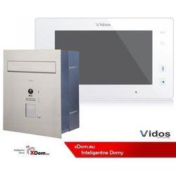 Vidos Zestaw cyfrowy s1201-skp skrzynka na listy z wideodomofonem i czytnikiem kart, m1021w monitor 7'' wideodomofonu