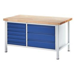 Stół warsztatowy, stabilny,6 szuflad w rozmiarze L, 3 szuflady w rozmiarze XL