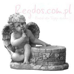 Figura ogrodowa betonowa aniołek z donicą 28cm