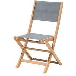 Krzesło ogrodowe drewniane textilene ciemnoszare cesana marki Beliani