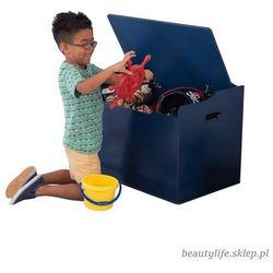 Kidkraft drewniana skrzynia na zabawki ławka 2w1 austin granatowa (0706943149591)
