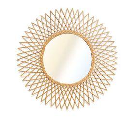 Vente-unique Lustro okrągłe w kształcie słońca calamus z rattanu – śr. 90 cm