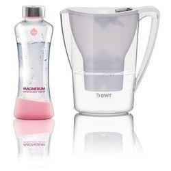 dzbanek filtracyjny penquin 2,7 l, biały, designowa butelka myequa 550 ml marki Bwt