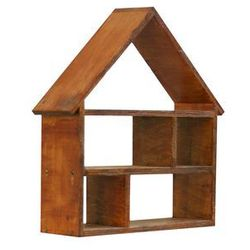 Mini półka domek lakierowana w kolorze Tek