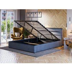 Łóżko tapicerowane z pojemnikiem 120x200 - 1218 - welur popiel marki Meblemwm