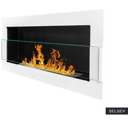 Globmetal Selsey biokominek astralis 90x40 cm z certyfikatem tÜv biały połysk