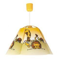 Rabalux Lampa wisząca dziecięca zwis leon 1x60w e27 wielokolorowa 4568
