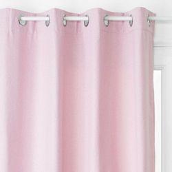Atmosphera créateur d'intérieur Zasłona okienna, ciepły różowy kolor, wykonana z trwałego poliestru, wymiary 260 x 140 cm, metalowe zakończenie otworów na karnisz (3560239693109)