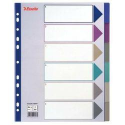 Esselte przekładki pp a4 maxi 6szt. mix kolorów (20647) darmowy odbiór w 21 miastach! (5024942206479)