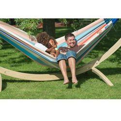 La siesta Zestaw hamakowy: hamak rodzinny domingo ze stojakiem canoa, piggy doh18cns201