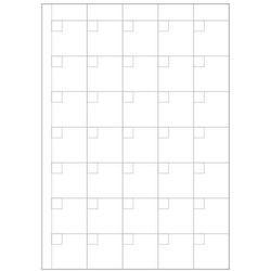 Tablica magnetyczna suchościeralna lean planer kratki 004 marki Wally - piękno dekoracji