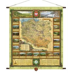 Polska Lasy Państwowe mapa ścienna Pergamena - produkt z kategorii- mapy