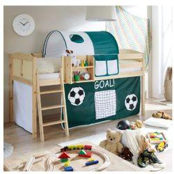 TICAA łóżko z drabinką Eric Country sosna naturalna Goal (4250393881243)