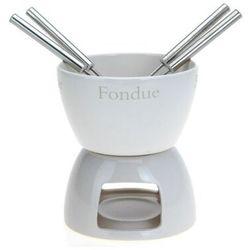 Eh excellent houseware Zestaw do fondue - ceramiczny zestaw do czekoladowego lub serowego fondue dla 4 osób