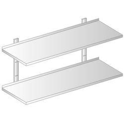 Półka wisząca przestawna 1300x300x700 mm, podwójna   DORA METAL, DM-3503