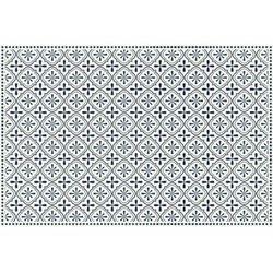 Winylowy dywan terquise z motywem cementowych płytek – 120 × 180 cm – kolor niebieski i biały marki Vente-unique