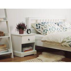 Beliani Szafka nocna biała jedna szuflada gilbert (7105277626281)