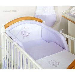 MAMO-TATO pościel 2-el Miś na księżycu w fiolecie do łóżeczka 60x120cm z kategorii Komplety pościeli dla dzieci