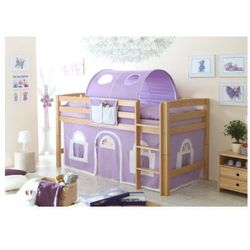 Ticaa kindermöbel Ticaa łóżko piętrowe timmy r buk, naturalny - fioletowy/biały