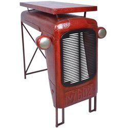 Esschert Design Stół ogrodowy stylizowany na traktor czerwony