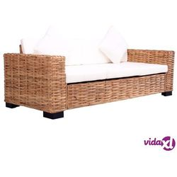 3-osobowa sofa ogrodowa, z naturalnego rattanu marki Vidaxl
