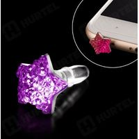 Zatyczka mini jack kolor fioletowy - fioletowy, marki Hurtel