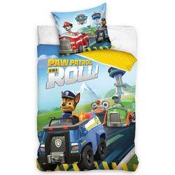 4home Carbotex dziecięca pościel bawełniana psi patrol policyjne auto, 140 x 200 cm, 70 x 90 cm