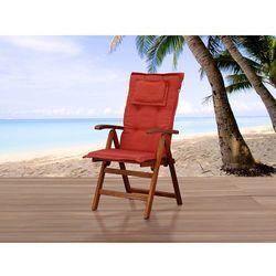 Beliani Komfortowa poducha do krzesła toscana ceglasta (7081453854474)