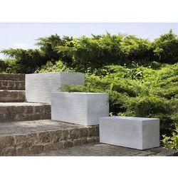 Beliani Doniczka biała prostokątna 50 x 23 x 24 cm myra (4260602372363)