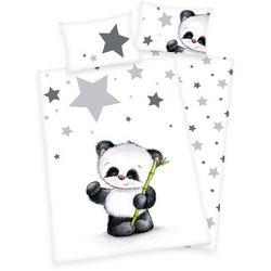 Dekoria Komplet pościeli do łóżeczka Panda, poszwa 100 × 135 cm, poszewka 60 × 40 cm