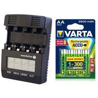 Ładowarka  nc-3000 + 4 x akumulatorki varta pro r2u r6 aa 2600mah, marki Everactive