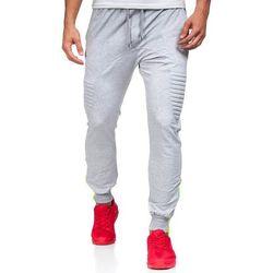 Szare spodnie dresowe baggy męskie Denley 0493 - SZARY, kolor szary