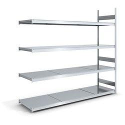 Regał wtykowy o dużej pojemności z półkami stalowymi,wys. 2500 mm, szer. półki 2500 mm marki Hofe
