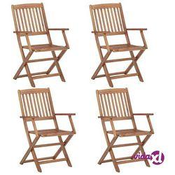 vidaXL Składane krzesła ogrodowe, 4 szt., lite drewno akacjowe (8719883722177)