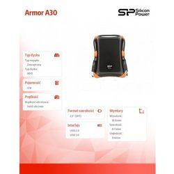 Silicon power Dysk zewnętrzny  armor a30 1 tb czarny (sp010tbphda30s3k) darmowy odbiór w 16 miastach!