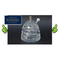 Pojemnik na miód szklany  marki Bohemia