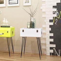 szafka w kształcie białej walizki 40x30x57 cm marki Vidaxl