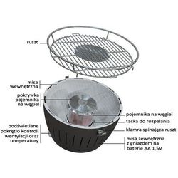 LotusGrill – Wymienny pojemnik na węgiel do grilla XL