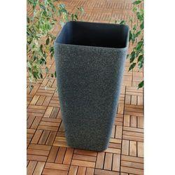 Ogrodowa donica plastikowa wysoka wazon czerń l od producenta Ogrody leandro