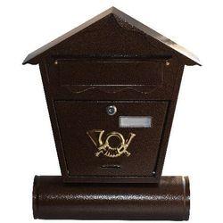 Skrzynka pocztowa Antika brązowy