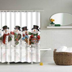 Snowman Christmas Printed Waterproof Shower Curtain - sprawdź w wybranym sklepie