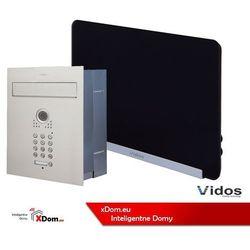 Zestaw jednorodzinny wideodomofonu . skrzynka na listy z wideodomofonem. monitor 7'' s561d-skp_m690b marki Vidos