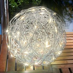 Esotec Lampa solarna led alu-wireball, ciepła biel