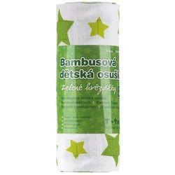T-tomi Ręcznik bambusowy, zielone gwiazdki, TT1269