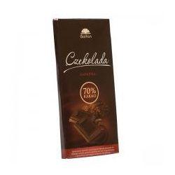 Czekolada gorzka 70% kakao, słodzona fruktozą 50g