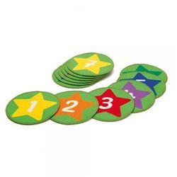Dywaniki z cyframi 12 szt - elementy do pokoju dziecka