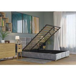 Big meble Łóżko 180x200 tapicerowane bergamo + pojemnik welur szare