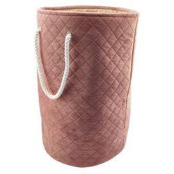 Kosz na pranie ROSO – kolor różowy – 36 × 56 cm (śr. × wys.)